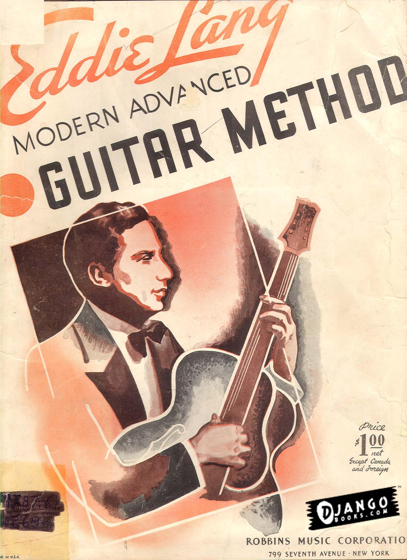 Modern Book Cover Guitar : New ebook eddie lang modern advanced guitar method