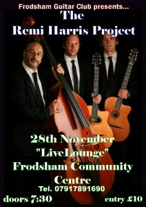 Frodsham Guitar Club present The Remi Harris Project @ LiveLounge | Frodsham | United Kingdom
