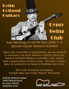 Los Gatos Gypsy Swing Club @ Keith Holland Guitars   Los Gatos   California   United States