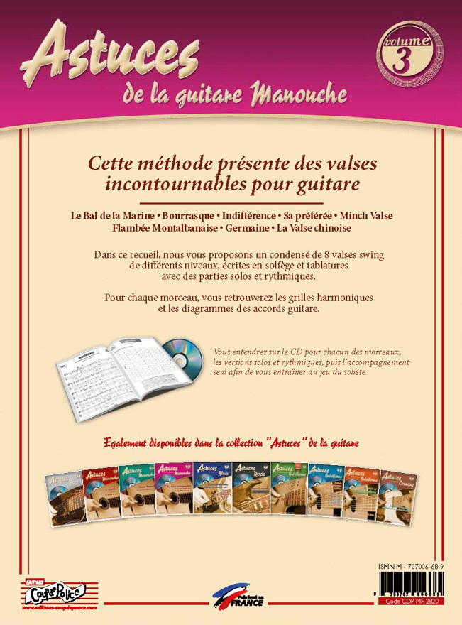 Christophe Astolfi - Astuces de la guitare Manouche Vol.3 (Musette Waltz Collection)