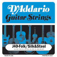 d addario silk and steel strings 11 47 ej40. Black Bedroom Furniture Sets. Home Design Ideas