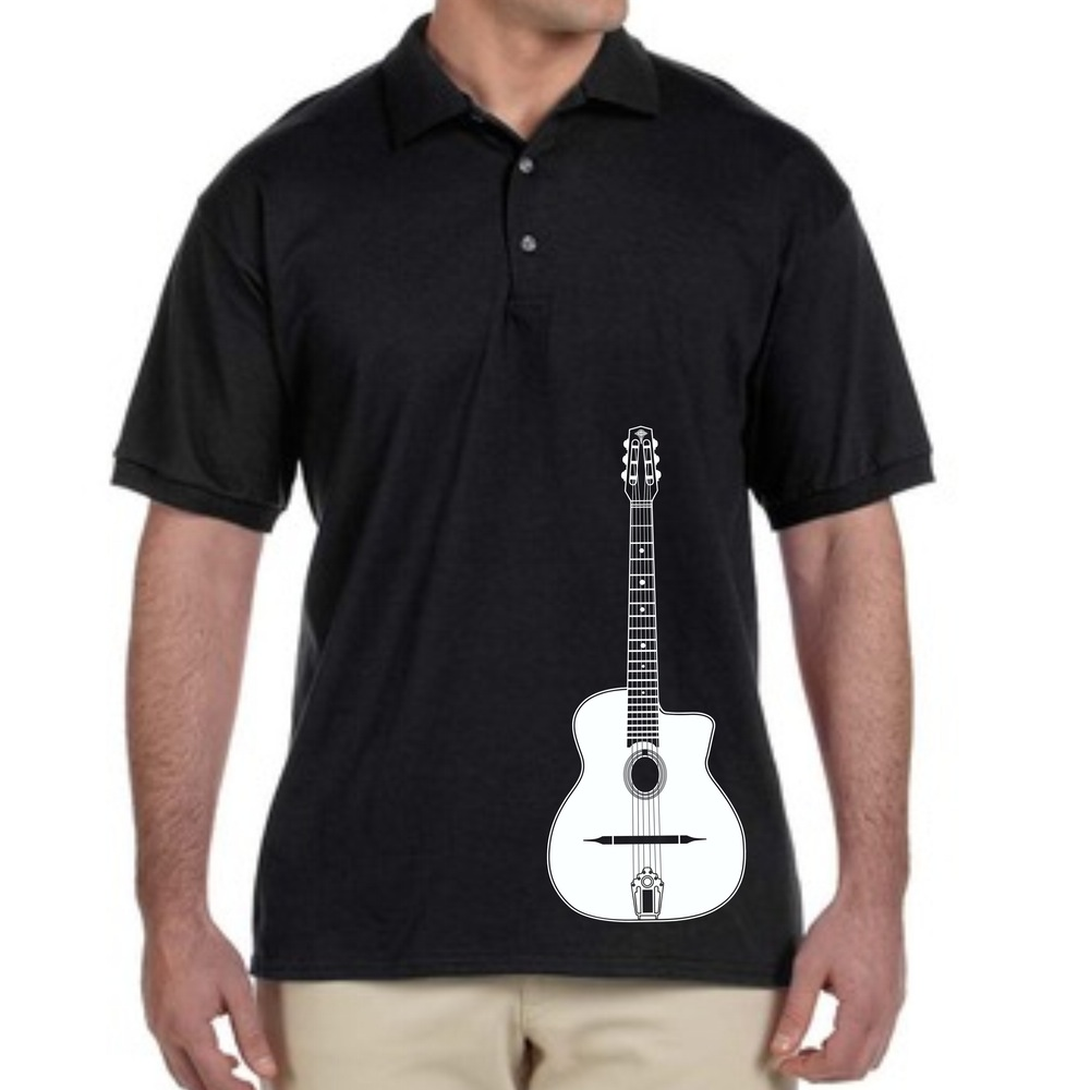 Offset Selmer Guitar Men's Collared Polo Black