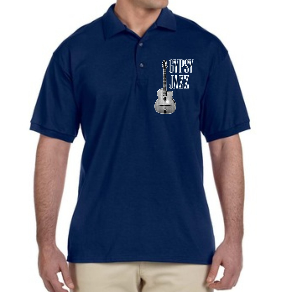 Selmer And Gypsy Jazz Collared Polo Blue