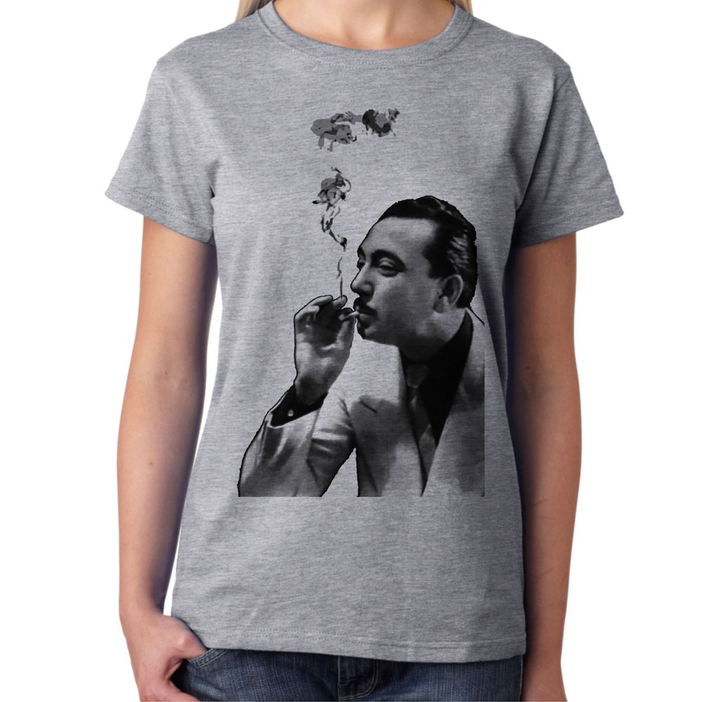 Django Reinhardt Smoking Grey Women's T-Shirt