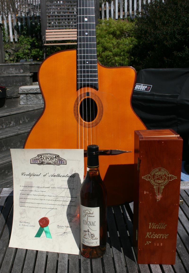 Maurice Dupont 2010 VRB Vieille Reserve Oval Hole Guitar (Brazilian Back and Sides) with HSC