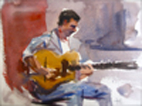 "Watercolor by Tony Green - ""ANGELO DEBARRE"""