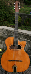 1930s Busato 12 Fret D Hole Guitar with HSC