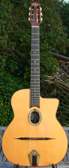 USED 2002 DELL'ARTE OVAL-HOLE DARK EYES GUITAR NO CASE ***SOLD!!!***