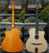 DELL'ARTE OVAL-HOLE HOMMAGE GUITAR WITH CASE (WITH RARE MAPLE BACK AND SIDES!!)***SOLD!!!***