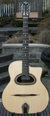 DELL'ARTE D-HOLE HOMMAGE GUITAR WITH CASE