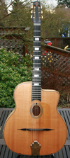 Moreno's Maurice Dupont 1993 Solid Maple Favino Style Oval Hole Guitar with Hardshell Case (Very Rar