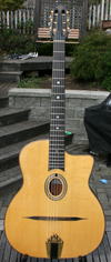 USED Maurice Dupont 2007 MD-50 Oval Hole Guitar (Indian Rosewood Back and Sides, Rare Bearclaw Top!)