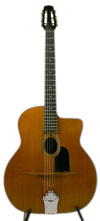 1964 Jacques Favino 14 Fret Oval Hole Guitar (Modele #10) with HSC