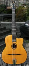 Jean Barault 2010 Oval Hole Guitar (Indian Rosewood Back and Sides) HSC