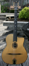 USED 2009 Manouche Latcho Drom OR-101 Oval Hole, Laminated Indian Rosewood back and sides, 14 Fret G